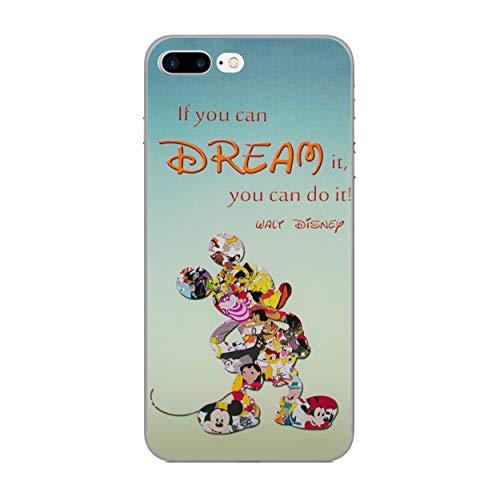 "iPhone 8 Plus (5.5"") Disney Quote Silicone Phone Case/Gel Cover for Apple iPhone 8 Plus (5.5"")/Screen Protector & Cloth/iCHOOSE/Dream"