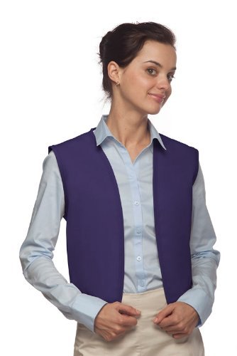 [Hickory Ridge 740NP No Pocket Unisex Uniform Vest, Purple, Small] (Church Choir Costumes)