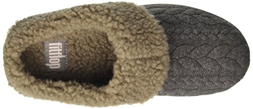 Donna Fitflop Pantofole Aperte Quilted Tm Grigio Sulla Caviglia Loaff charcoal a0F01qxCR