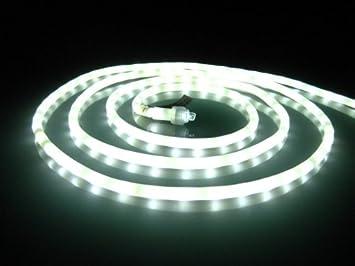 50Ft Rope Lights; Pearl White LED Rope Light Kit; 1.0u0026quot; LED Spacing;