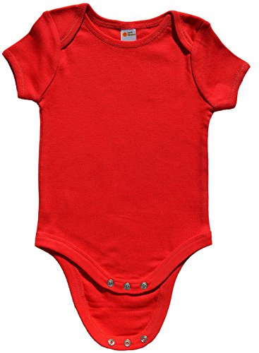 Red Infant Onesie - Earth Elements Baby Short Sleeve Bodysuit 12-18 Months Red