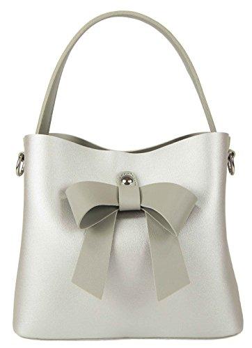 Casadinova Tote Bag Womens Synthetic Silver Medium
