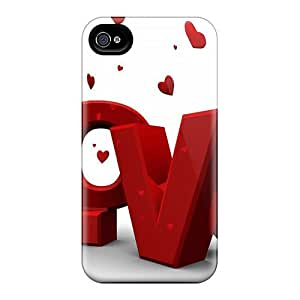 Cases Covers Love Red 3d/ Fashionable Cases For Iphone 4/4s