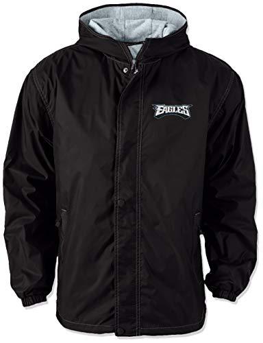 Dunbrooke Apparel NFL Philadelphia Eagles Legacy Nylon Hooded Jacket, Large, Black