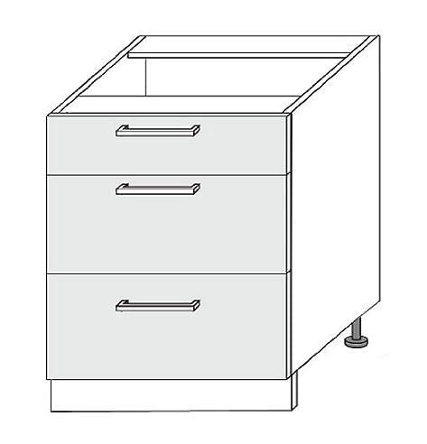 Schubladen für küchenschränke  Küchenschrank Unterschrank 80 mit Schubladen: Amazon.de: Küche ...