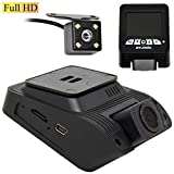 SturdX Full HD Dual Ultra High Definition Dash Camera Wide Angle Night Vision G-Sensor Front and Rear | 2.4'' Screen | Dashboard Camera | Rear Camera Included | Built-in G-Sensor | Loop Recording