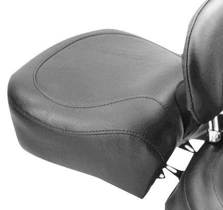 Mustang Wide Vintage Recessed Rear Seat Black Fits 07-12 Harley FXD Dyna Super Glide - Recessed Rear Seat