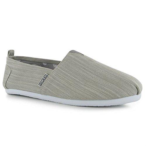 Soulcal Hombres Long Beach Canvas Slip On Zapatos Verano Ligero Calzado Casual Denim Gris