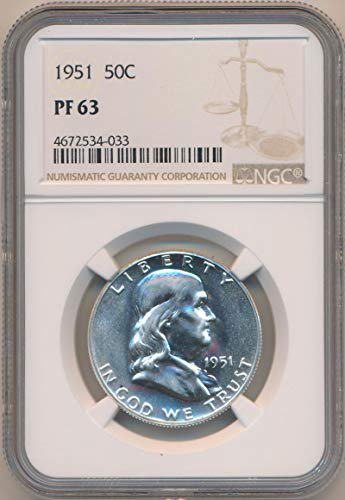 1951 See Pic Franklin PRoof Half Dollar PF63 NGC ()