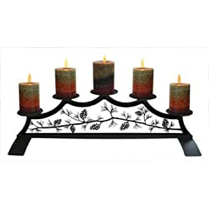 fireplace candle holder 28 inch pinecone fireplace pillar candle 29716