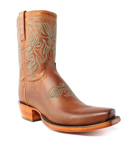 Lucchese HL4500.73 Adina Womens Cognac Burnshd Calf Leather Cowboy Western Boots