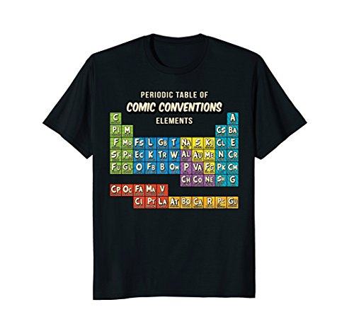 (Comic Shirts: Periodic Table Shirt of Comic Books)
