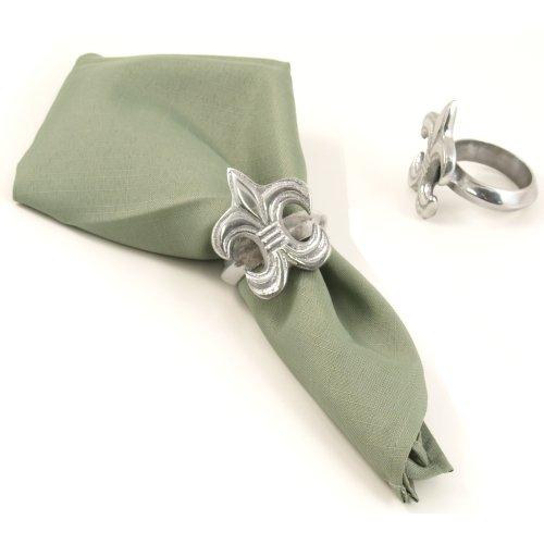 Fleur De Lis Classic Napkin Rings Set of 4 ()