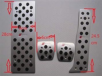 P/édales de voiture Freins /à gaz Pour A3 Q3 TT Accessoire de voiture en aluminium