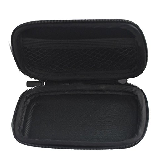 BCP Black Color EVA Hard Case for MP3/MP4 Bluetooth Earphone Earbuds