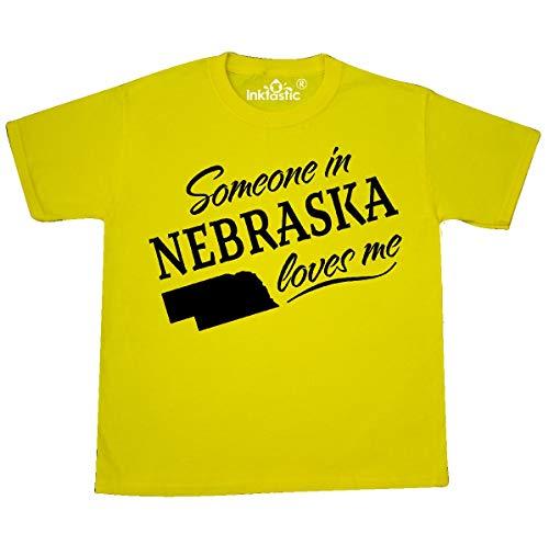 inktastic - Someone in Nebraska Youth T-Shirt Youth X-Small (2-4) Yellow ()