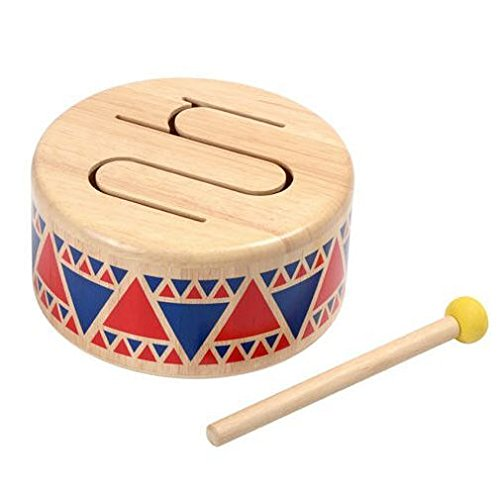 Plan Toy Solid Wood Drum (Drums Toy)