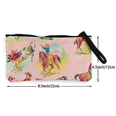 CutePrintedCanvasCashCoinPurse,Ride Em Cowgirl Cowboy PINK!_39Make up Bag, Cellphone Bag with Handle?Card bag for women's