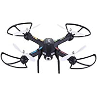 JJRC H28C RC Quadcopter Drone With HD 2.0MP Camera One Key Automatic Return RTF Quadcopter + 1 Set of Free Floureon Props, 2.4GHz 6 Axis Gyro, Black