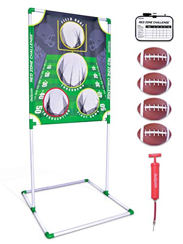 (GoSports Red Zone Challenge Football Toss Game | Includes Target, 4 Footballs, Scoreboard and Case)