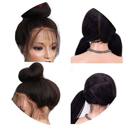 Full Lace Human Hair Wigs Women Straight Wig Lace Wig Pre Plucked Knots,#1,20inches,Lace Front Wigs