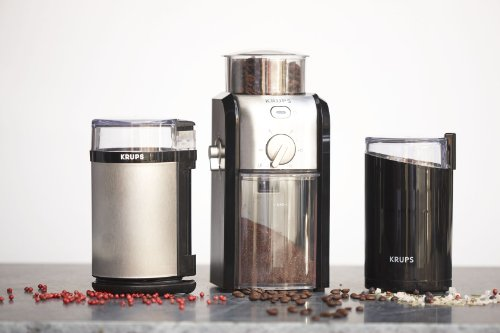 Vacuum Coffee Maker Grind Size : KRUPS GVX212 Coffee Grinder with Grind Size and Cup Selection and Stainless New