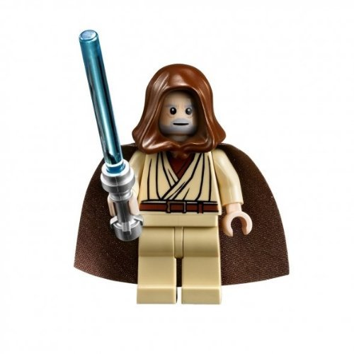 LEGO Star Wars Obi-Wan Kenobi hooded Jedi minifigure (Millenium Falcon - Death Star ()