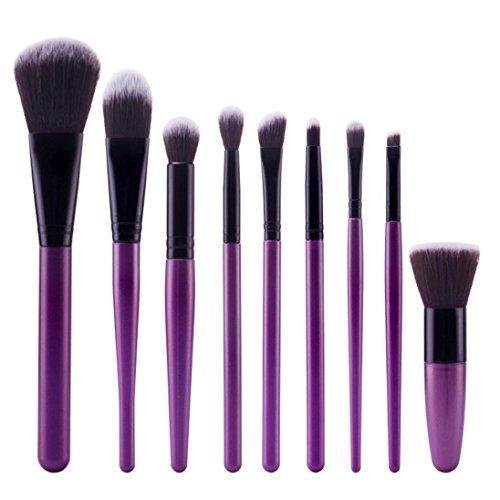 Bolayu 9Pcs Cosmetic Brush Sets Makeup Brushes Kits Tools
