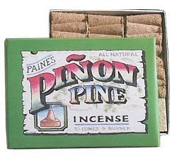 Paine's Pinon Pine Incense - 32 Pinon Cones & Holder