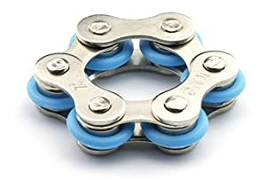 Roller Chain Fidget Toy Stress Reducer - Perfect For ADD, ADHD, Anxiety, and Autism (Blue)