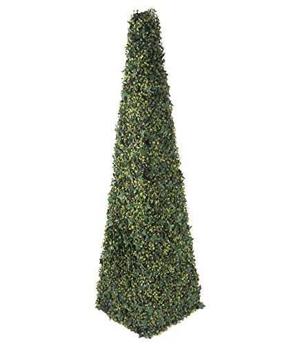 Closer2Nature Artificial 6ft Boxwood and Ivy Pyramid Tower Topiary