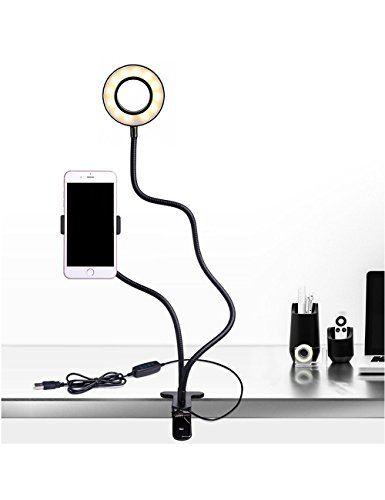 Smarlf Selfie Ring Light with Cell Phone Holder Stand for Youtube Video, 2-Light Mode, 360 Degree Rotating Flexible Arm by Smarlf