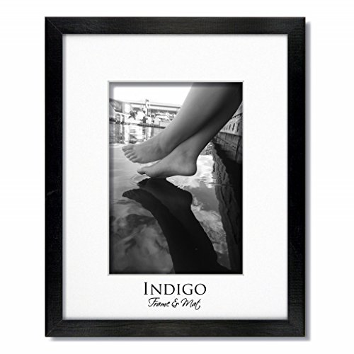 One 12x16 Black Wood Picture Frame and Glass with Single Whi