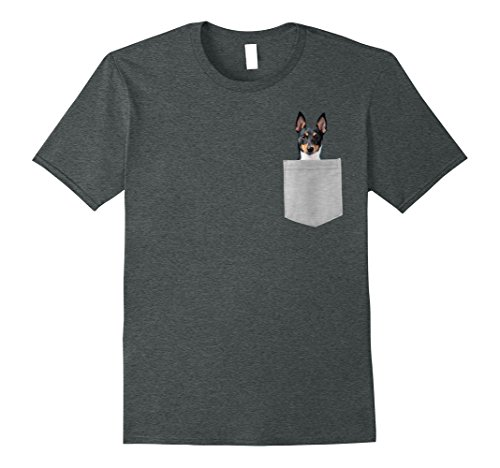 Mens Dog in Your Pocket Toy Fox Terrier t shirt shirt XL Dark Heather