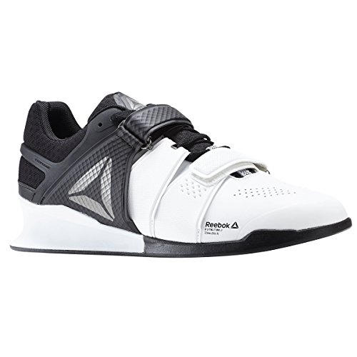 Reebok Men's Legacy Lifter Cross-Trainer Shoe, White/Black/Pewter, 10 M US