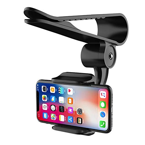 Sun Visor Car Cell Phone Holder, Universal 360 Rotating Car Mount Support Clip Bracket Compatible for iPhone Xs/Xs Max/Xr/X/8/7/6 Samsung Note 9/8/5 Galaxy S9/S8/S7/S6 Moto Z3 Smartphones GPS (Black) (Iphone 6 Car Visor)