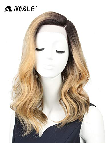 NOBLE Lace Front Wig Princess Kate Hair Style Wig Romantic Large Lace Space Free Part Wig Pre Plucked Hair Professional Heat Resistant Wig for Women (25inches, TTHL4/26)