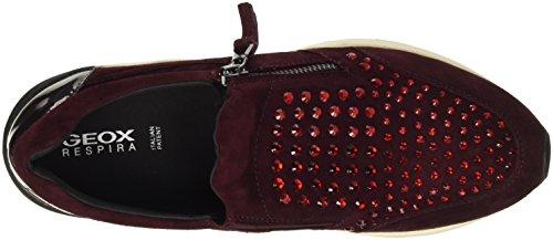 Geox D Omaya C, Zapatillas para Mujer Rot (DK BURGUNDYC7357)