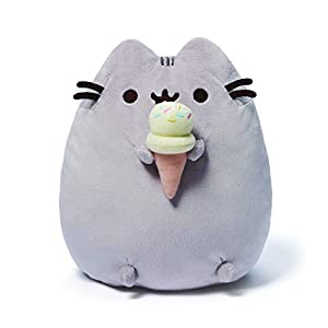 GUND Pusheen Snackables Ice Cream Plush Stuffed Animal Cat, 9.5″