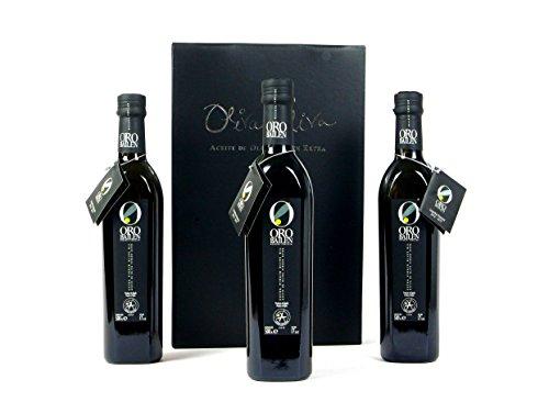 3 bottles Oro Bailen Family Reserve - Extra Virgin Olive Oil, New Harvest 2017, 17-Ounce / 500 ml