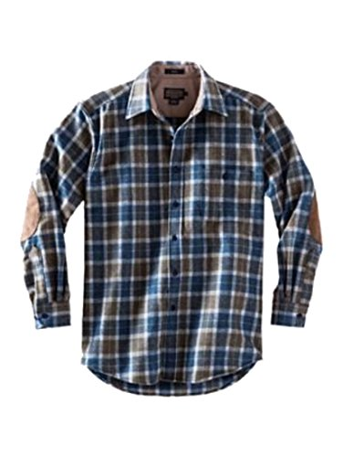 Taupe Mix (Pendleton Men's L/S Fitted Trail Shirt Taupe / Blue Mix Plaid MD)