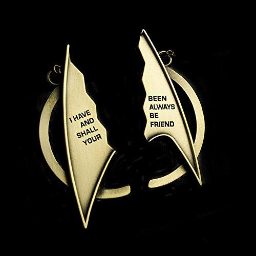 Amazoncom Qmx Star Trek Friendship Necklace Toys Games