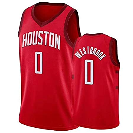 Jersey R/étro Respirant WZHHH Maillot De Basketball pour Hommes Uniforme De Basket-Ball Unisexe 0 Russell Westbrook Houston Rockets