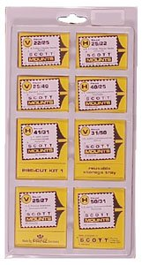 Scott or Prinz VALUE PACK CLEAR Stamp Mounts SCOTT # 966C -- 320 - Clear Mounts Stamp