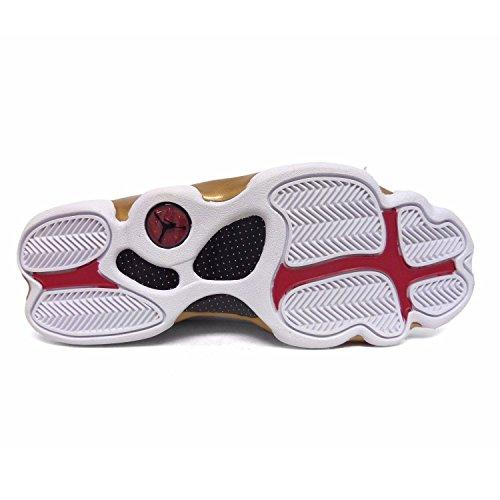 Air Jordan Hommes Rétro 13/14 Dmp Pack Blanc / Noir / Or 897563-900 (taille: 9.5)