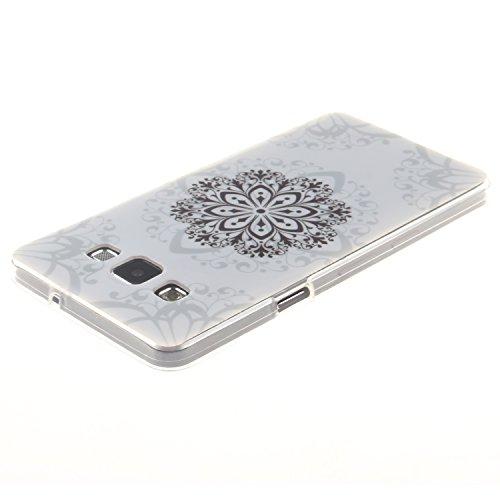 Funda gel de Silicona Samsung Galaxy S5 i9600[Con Protector de Pantalla Gratuito],CaseHome Premium Flexible Ultra Gelgado TPU Suave Carcasa de Piel de Pubierta de Silicona Parachoque Modelo Elegante ú Flor de Mandala