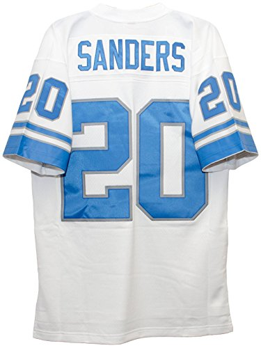 Barry Sanders Detroit Lions White 1996 Mitchell & Ness Throwback Jersey (XXL) - Lions Throwback Jersey