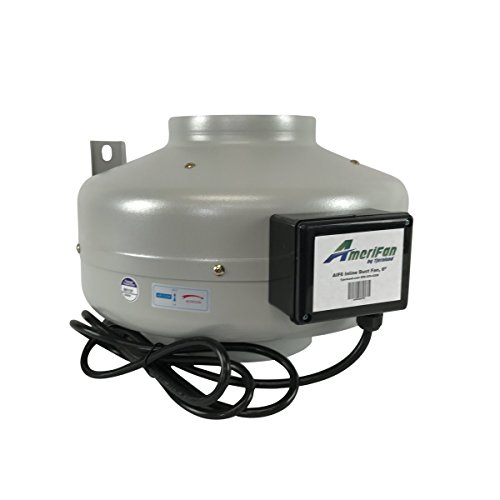 AmeriFan AIF6 Duct Booster Exhaust, for Growing, Hydroponics, Heating, Cooling, Venting, HVAC, Steel, 120V Supply (Heating Cooling Duct)