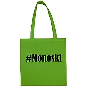 Tasche#MonoskiGröße38x42FarbeGrünDruckSchwarz