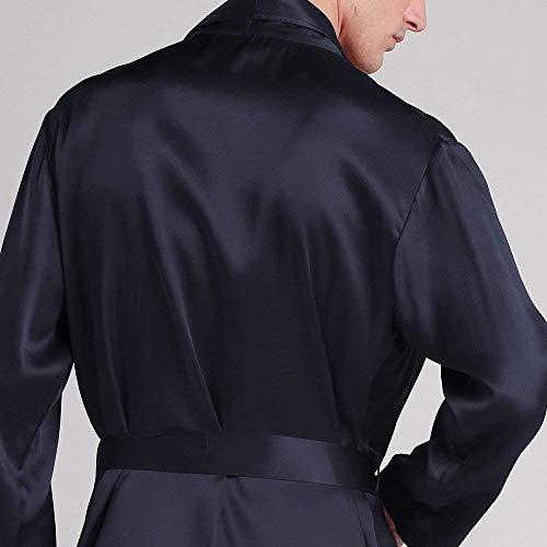 Blau Mantle Scollo Vestaglia A Accappatoio Balneazione Uomo Primavera Leggero Moda Estate Con Robe Accogliente V Nightwear Homewear Loungewear wFZTqYw